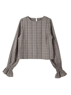 Brown&Street(ブラウンアンドストリート) |PuffSleeve Check Blouse