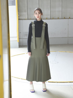 Brown&Street(ブラウンアンドストリート) |【10Days Collection】Tall Pleated Jumper Skirt